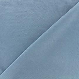 Tissu jersey Modal Polo - bleu denim x 10cm