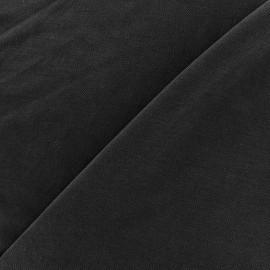 Tissu jersey Modal Polo - noir x 10cm