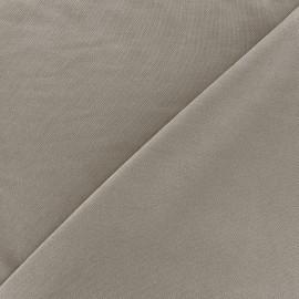 Tissu jersey Modal Polo - grège x 10cm