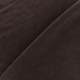 Jersey fabric Modal Polo - brown x 10cm