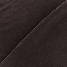Tissu jersey Modal Polo - marron x 10cm