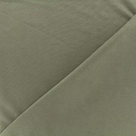 Tissu jersey Modal Polo - vert kaki x 10cm