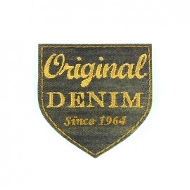 Embroidered iron on patch Original denim - vintage