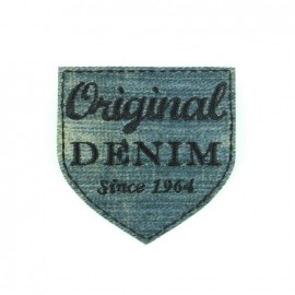 Embroidered iron on patch Original denim - classic