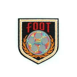 Reflective embroidered iron on patch - foot