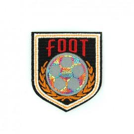 Thermocollant blason brodé réfléchissant - foot