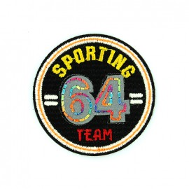 Reflective embroidered iron on patch - sporting