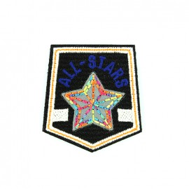 Reflective embroidered iron on patch - all stars