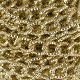 Chaîne maille aluminium 15mm - doré x 50cm
