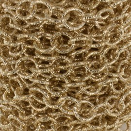 Aluminium round mesh chain 10mm - golden x 50cm