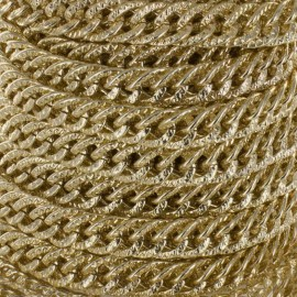 Aluminium mesh chain 15mm - golden x 50cm