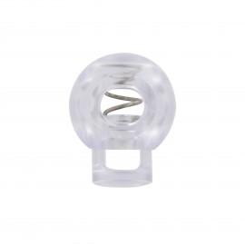 Arrêt cordon boule 18mm - transparent
