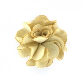 Pompom Dahlia brooch - ecru