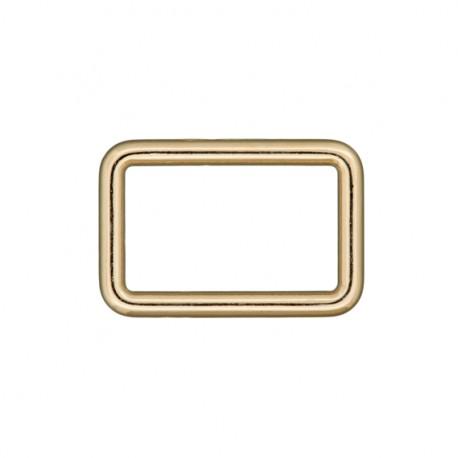 Boucle rectangle acier - doré