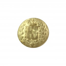 Metal button Royaume - gold