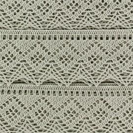 Spindled Lace ribbon 43mm Ribbon - grege x 50cm