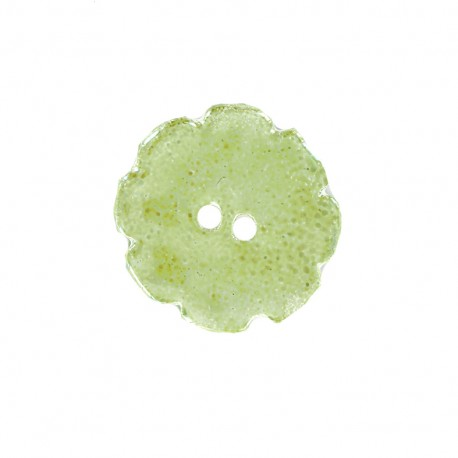 Bouton céramique Lotus - vert clair