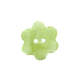 Ceramic button Blossom - light green