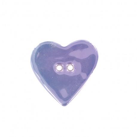 Ceramic button Coeur - parma