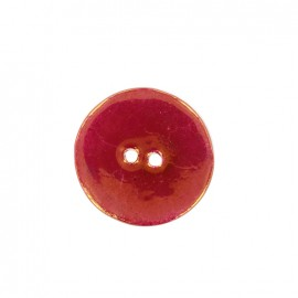Ceramic button Rond - pourpre