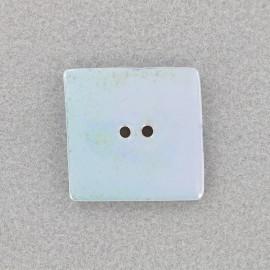 Bouton céramique irisé Carré - ciel