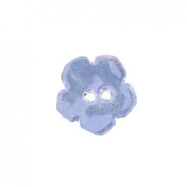 Bouton céramique irisé Flocon - parme