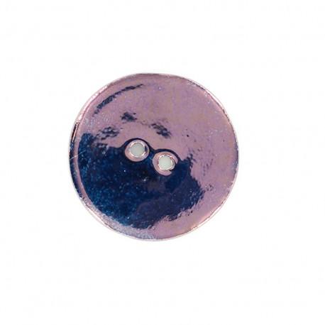 Bouton céramique Rond - aubergine