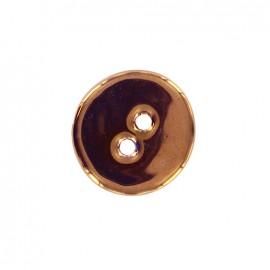 Bouton céramique irisé Rond - cuivre