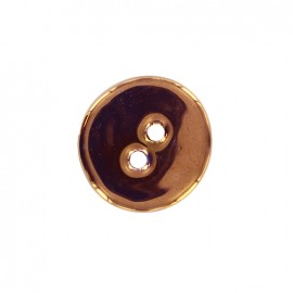 Ceramic button Rond - copper
