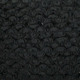 Plain elastic serpentine - black x 1m