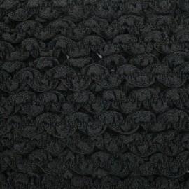 Serpentine élastique unie - noir x 1m