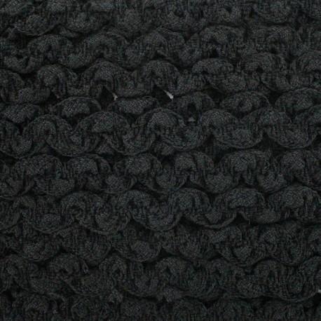 Plain elastic serpentine - black x 1m