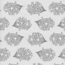 Tissu coton Cotton Steel Sleep Tight -  Hedgehog Grey x 10cm