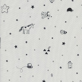 Cotton fabric Cotton Steel  Sleep Tight - Night Grey x 31cm