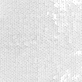 Tissu sequins - blanc x 10cm