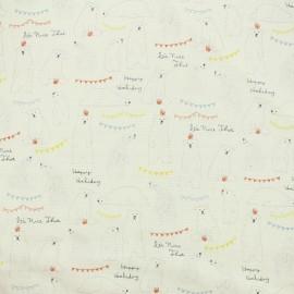Kokka fabric Trefle Kids Polar Bear - White x 15cm