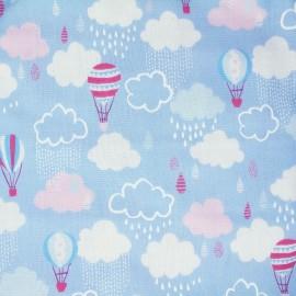 Tissu coton Kokka Trefle Cucito Baloon - Bleu x 31 cm