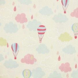Tissu coton Kokka Trefle Cucito Baloon - Blanc x 31 cm