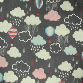 Kokka fabric Trefle Cucito Balloon - Black x 31 cm