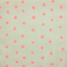 Tissu double gaze de coton Kokka Nina Iro Pocho - Gris/rose x 10 cm