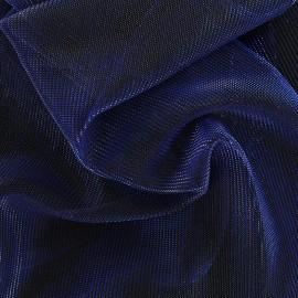 Tissu voile lurex - bleu métallisé x 10cm