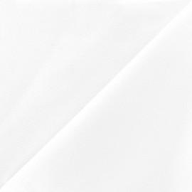 ♥ Coupon 40 cm X 280 cm ♥ Heavy satiny fabric - white