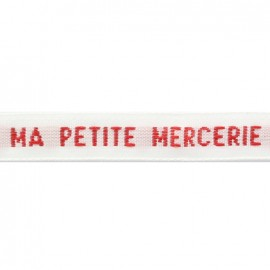 Woven sew-on name tapes 10 mm - red