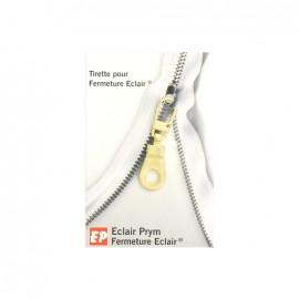Eclair Prym Médaille Zipper pull - gold