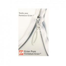 Eclair Prym Ellipse Zipper pull - silver