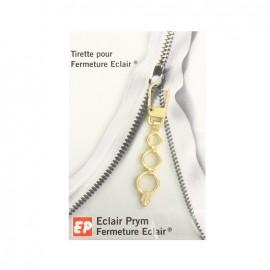 Tirette Eclair Prym Petits anneaux - doré