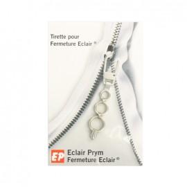 Tirette Eclair Prym Petits anneaux - argenté