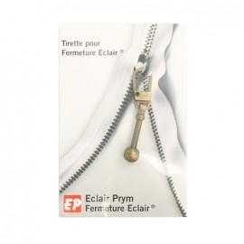 Tirette Eclair Prym Antique - bronze
