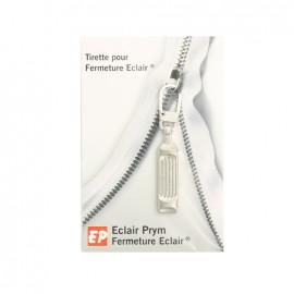 Eclair Prym Striée Zipper pull - silver