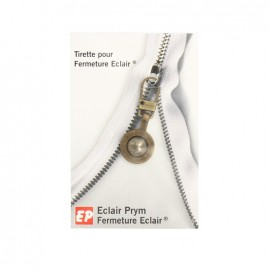 Eclair Prym Boule Zipper pull - bronze